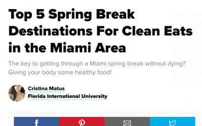 Michi's is Top 1 Healthy Restaurant according Ron SPOON FIU